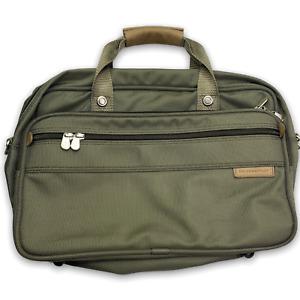 "Briggs & Riley Weekender 18"" Carry On Messenger Bag Olive Green Luggage Bag"