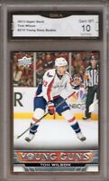 GMA 10 Gem Mint TOM WILSON 2013/14 UD Upper Deck YOUNG GUNS Rookie Card CAPS!