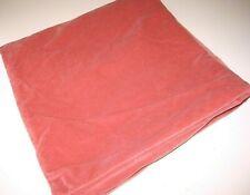 "Ikea SANELA Pillow Cover Euro Sham 26"" x 26"" Coral Velvet Cotton Light Brown Red"