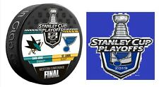 2019 ST. LOUIS BLUES WESTERN CONFERENCE FINAL PUCK & STICKER STANLEY CUP SHARKS