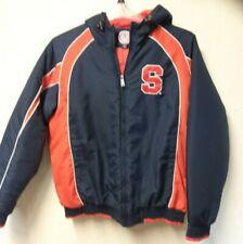 Syracuse Orangemen Navy Orange Puffer Jacket Size Large Official Collegiate
