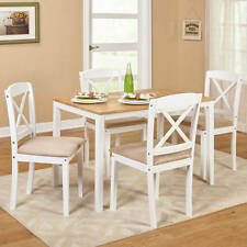 Dinning Set 5 Piece Modern Table Room Elegant Wood Chair Home Kitchen Furniture