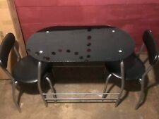 New listing two seat glass tap eating table