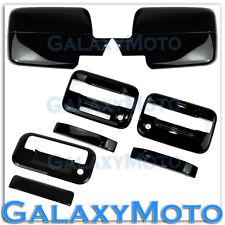04-08 Ford F150 Black Mirror+2 Door Handle+keypad+PSG keyhole+Tailgate Cover