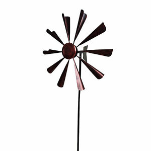 Lawn Whirligig Outdoor Decor Gift With Stake Metal Wind Spinner Garden Windmill