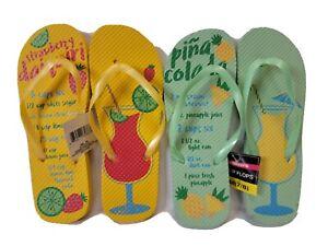 Womens Beach Summer Comfort Thong Flat Flip Flops Sandals Slipper Size 7 8
