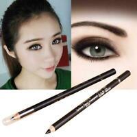 Eyeliner Bleistift Stempel Wasserdicht Schwarz Augen Make-Up anhaltende Lan F0X1