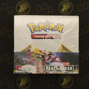 ⭐ Rebel Clash Pokemon Trading Card Booster Box Sealed 36 Packs Sword and Shield⭐