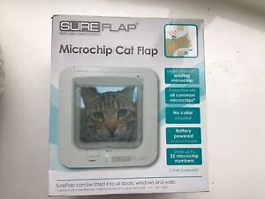 Cat Flap Sureflap Microchip Electronic Pet Door Locking No Strays Sureflap ID