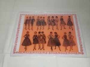 Flonz Craft Clear Stamp Sheet Vintage Ladies NIP