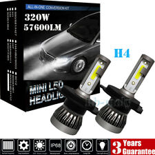 2Pcs H4 320w 6000k Xenon LED Super White Effect Look Headlight Lamps Light Bulbs