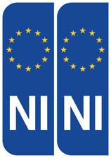 Northern Ireland Euro IRL Badge Car Number Plate  Vinyl Stickers European decal
