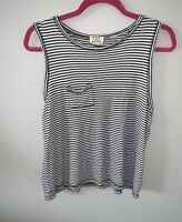 PST Project Social T extra Large XL Black & White Striped pocketed Tank Top