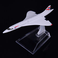 1:400 Airplane Plane Concorde G-BOAC Metal Diecast Airlines Aircraft Model