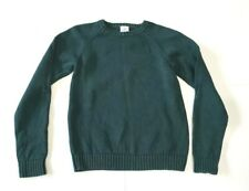 Lands End Kids Large 14-16 Holiday EverGreen Crew Neck Sweater Runs Small Cotton