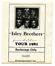 Vintage 1981 Isley Brothers Tour Original Backstage Pass Decal Grand Slam