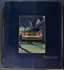 1996 Lexus LS 400 Prestige Catalog Sales Brochure Nice Original 96