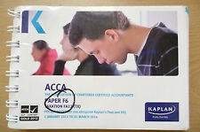 ACCA F6 KAPLAN POCKET NOTES, TX- 1 January 2013 to 31 March 2014 (9780857326973)
