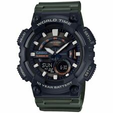 Casio Men's Databank 30 Watch, 100M, 3 Alarms, Chronograph, Resin, AEQ110W-3AV