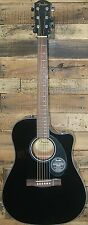 Fender CD-60SCE Acoustic-Electric Dreadnought Cutaway Guitar - BLACK - NEW!!