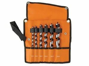 BAHCO 6 Pc 10-25mm Self-Feed Combination Wood Auger Flute Drill Bit Set,SB9526S6