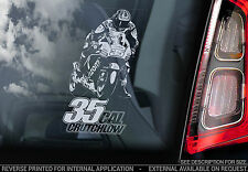 CAL Crutchlow #35 - adesivo con FINESTRA AUTO-MOTO GP MOTOGP MOTO sign TYP5-NUOVO
