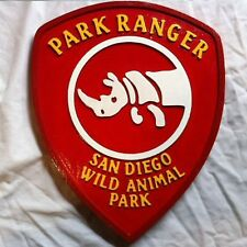 San Diego Park Ranger 3D routed wood patch plaque sign New