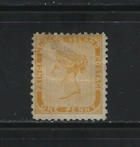 PRINCE EDWARD ISLAND - #4 - 1d QUEEN VICTORIA USED STAMP