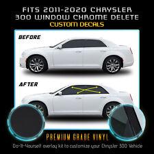Fit 11 20 Chrysler 300 Window Trim Wrap Chrome Delete Blackout Kit Matte Black Fits Chrysler 300