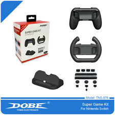 Dobe Switch Super Game Kit (Hand Grip + Wheel + Stand) for Nintendo Switch
