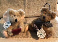TWO (2) Boyds Bears Plush Ornament Bears In Great Condition!!!