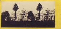 Torino Italia Campo Santo Foto C.Hodcend Stereo Vintage Albumina Ca 1860