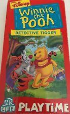 Winnie the Pooh:Detective Tigger VHS John Fiedler,Jim Cummings 2-TESTED-RARE
