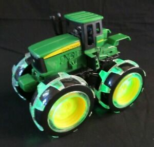 John Deere Toy Tractor with Light Up Huge Wheels By Tomy