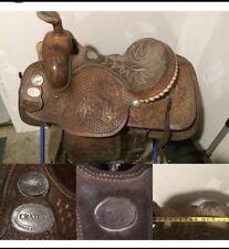 crates roping saddle