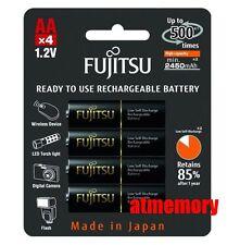 Fujitsu 2450mAh AA Precharge NiMH Rechargeable Battery 4pcs Sanyo Made in JAPAN