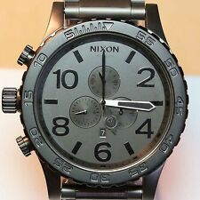 NEW Nixon Watch 51-30 Chrono Black Gunmetal, A0831062,5130,SALE MEN GIFT!NICE+++