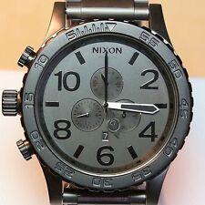 NEW Nixon Watch 51-30 Chrono Black Gunmetal, A0831062,5130,SALE MEN GIFT!NICE