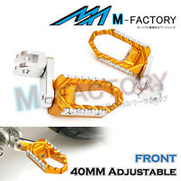 Fit Honda Z125M Monkey 40mm Adjustable Front Rider Cruise Foot Pegs