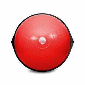 BOSU 26 Inch Yoga Sports Pro Balance Trainer Ball Exercise Equipment, Red/Black