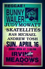 BUNNY WAILER/JUDY MOWATT/SKATELLITES Promo Concert Poster 1989 Reggae Ska COLBY