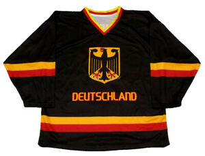 Leon Draisaitl #29 Ice Hockey Jersey Germany Deutschland Stitched Custom Names