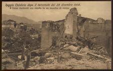 cartolina REGGIO CALABRIA corso garibaldi in rovina dopo terremoto 1908