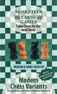 Musketeer Chess Variant Kit - Dragon & Camel - Black & Natural