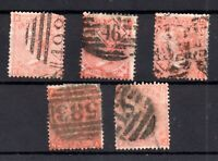 GB QV 4d vermillion or red mixed condition used WS17535