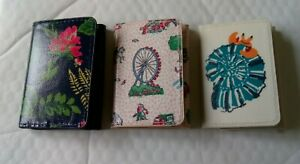Cath Kidston Trifold Ticket Holder Oilcloth - Choose Design *New*