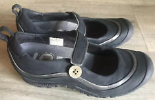 EUC Women's Size 6 / 36 Merrell Plaza Emme Mary Jane Black Leather Comfort Shoes