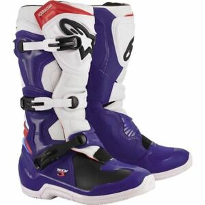 Alpinestars Tech 3 Boots - Blue/White/Red, All Sizes