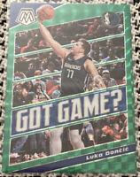 2019-20 Panini Mosaic Basketball NBA Luka Doncic Got Game Green Prizm #11.