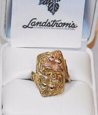 Black Hills Gold 10 kt 12 kt Large Ladies Two Leaf Ring Size 6 1/2 Landstrom's